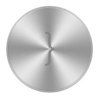Alphabet buttons aluminium