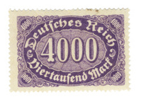 Stamp 4000 Reichsmark
