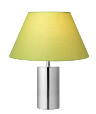Green Lampshade with sliver Lamp base