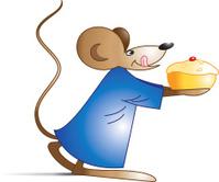 Rat and cake