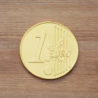 One chocolate euro coin