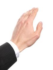 hand touching
