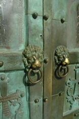 Lion Door Knockers, Amalfi, Italy.