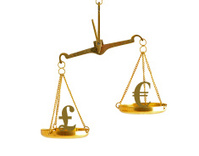 Imbalance of exchange rate between pound and euro