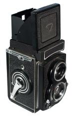 Old fashioned Twin Lens Reflex Camera