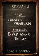 restaurant board menu