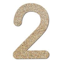Font rough gravel texture numeric 2