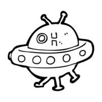 cartoon UFO