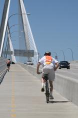 Biker on Bridge