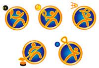 Set sports icons