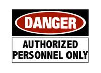 Danger sign - hard hats