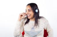 Customer Representative girl with headset