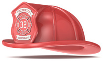 Red Firefighter Helmet.