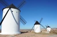 Windmühlen in La Mancha - Spanien