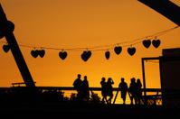 Lovers' Bridge at Sunset, Melbourne