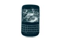 broken phone isolated on white