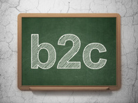 Finance concept: B2c on chalkboard background