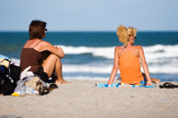 Watching kids at the beach