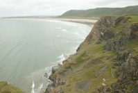Cliffs and Rough Seas of Rhossili Bay