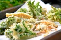 Wild grass tempura