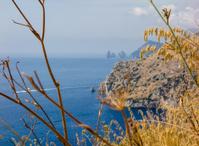 Capri Island seen from Amalfi coast, Nerano, Italy