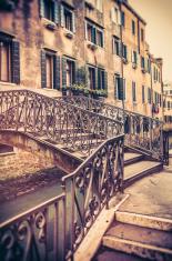 Venetian Bridge in Venice Over Canal