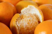 Half peeled tangerine