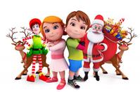 Kids with santa claus
