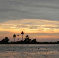 Sunset in Kerala, India