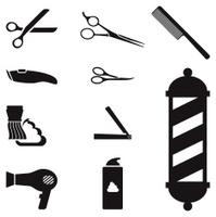 barber shop royalty free vector icon set royalty free vector