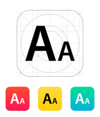 Font size icon.