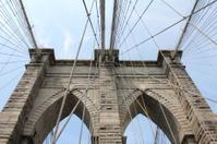 Looking Up at the Brooklyn Bridge