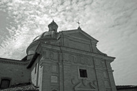 view of the church in Assisi, Umbria - Italy