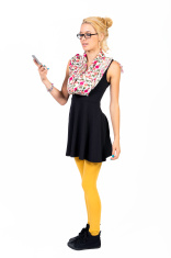 Teenage girl looking at the smart phone