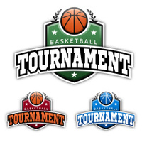 Basketball Tournament Badges