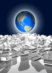 World globe unpacked