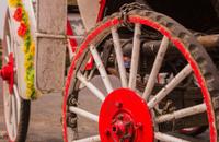 Wedding carriage wheels