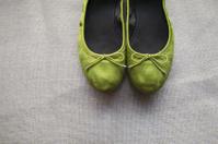 Closeup of Wedding Slippers