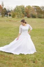Beautiful Bride Posing for Portrait