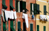 Laundry in Cinque Terre, Italy