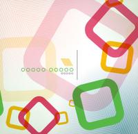 Colorful square geometric shape flat design