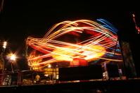 Fairground or Amusement Park Ride at Night