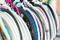 Bikes in outdoor bikeshop