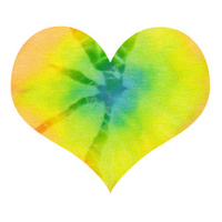 yellow batik valentin heart