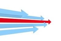 3D arrows - Choice and decision concept