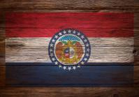 Flag of Missouri Stenciled on wood