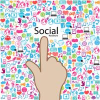 template design Social network light bulb idea vector illustrati