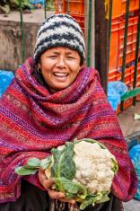 Nepali street seller in Kathmandu, Nepal