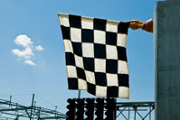 Check Flag ready for waving