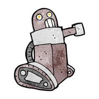 cartoon tank robot